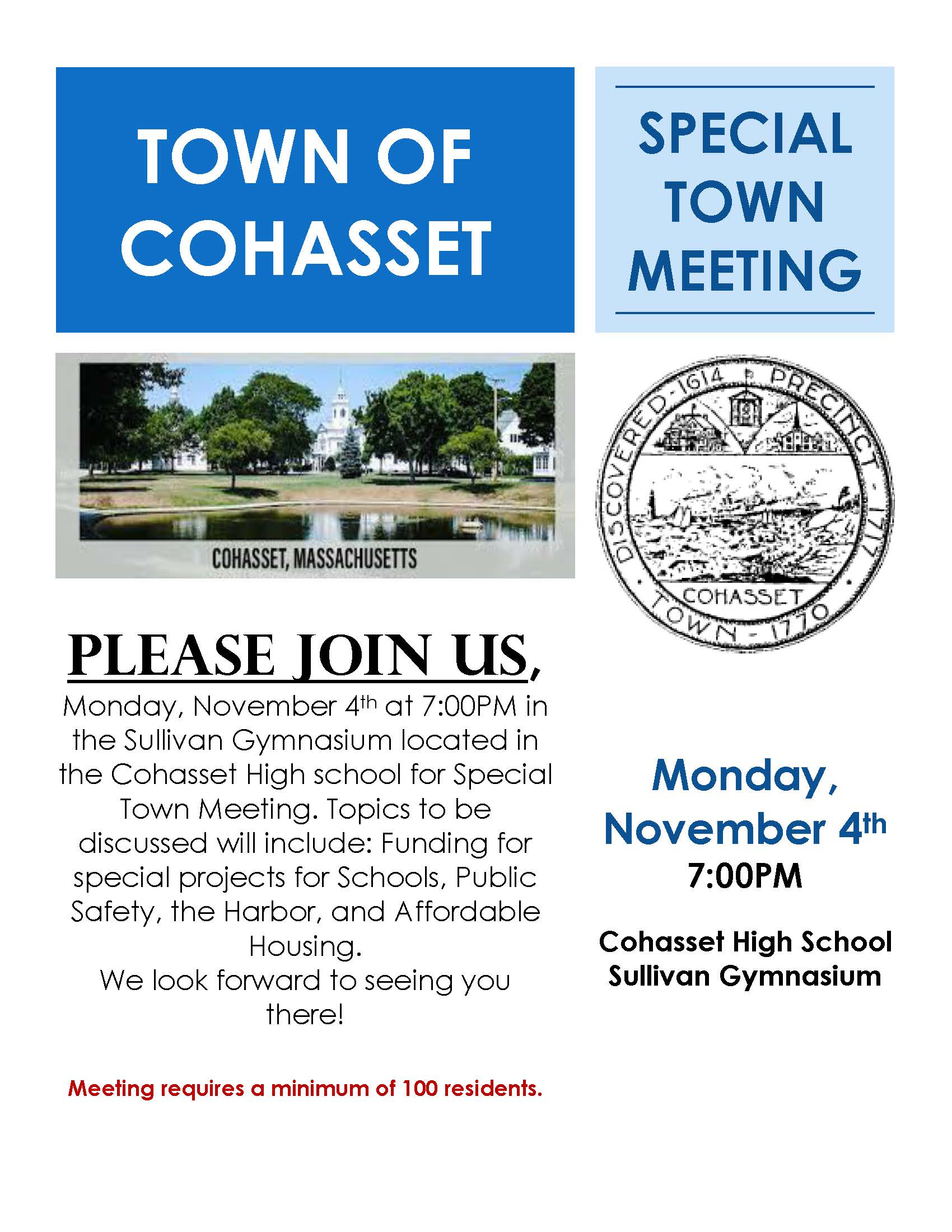Special Town Meeting Flyer_